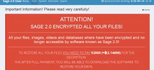 ویروس باجگیر « سِیج Sage یا مدل پیشرفته کری لاکر CryLocker »